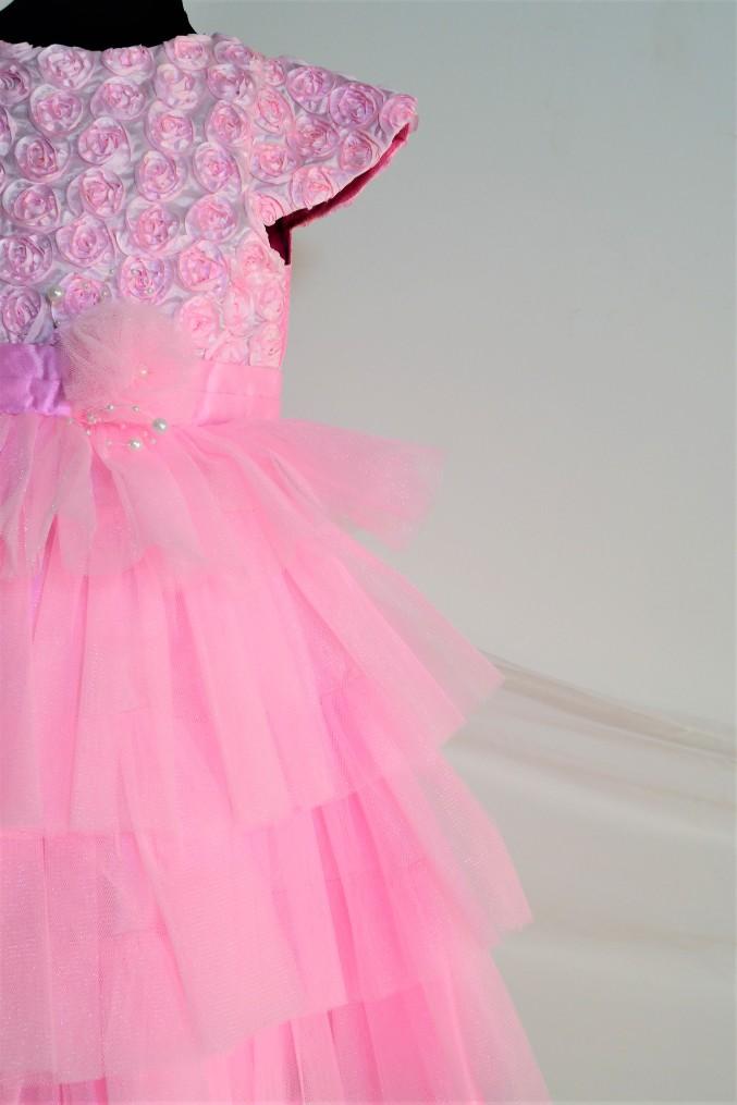 DSC 0100 TBT Rose Fluff Ball Dress- Pink