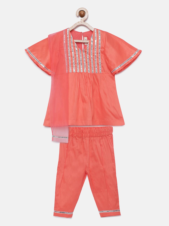 1 12 Bell sleeves gota Kurta pyjama with Dupatta